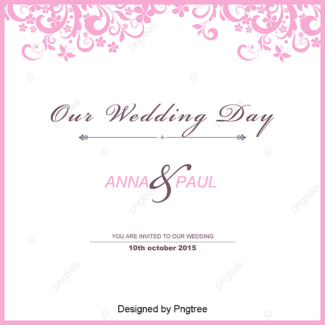 wedding invitation template free download, Invitation Card, Wedding Vector, Invitation Vector PNG and