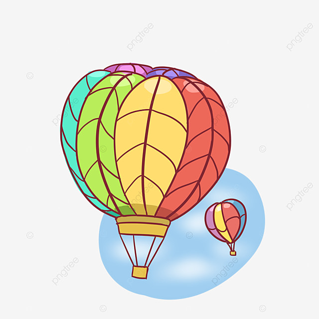 Hand Painted Hot Air Balloon Balloon Clipart Hot Air Balloon Hand