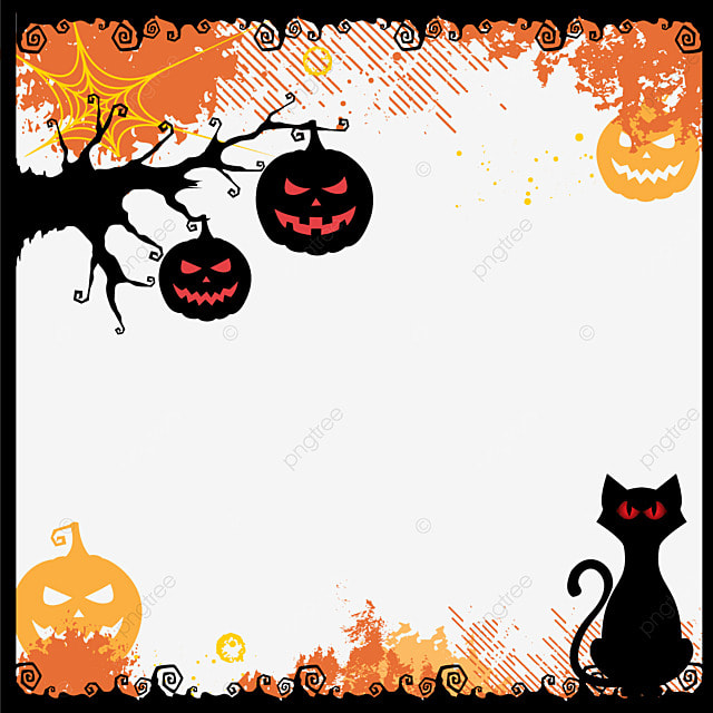 halloween vector border creative halloween frame png and vector