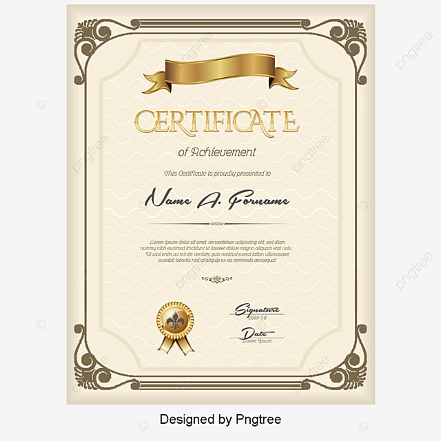 psd certificate template free