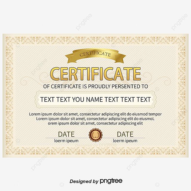 Vector Brown Pattern Border Certificate, Certificate ...