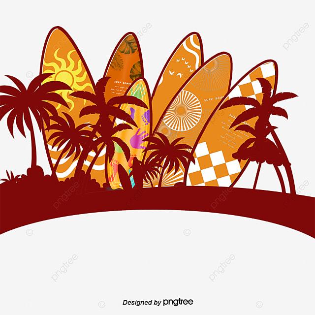 beach red surfboard surfboard clipart beach surfboard png image rh pngtree com Surfboard Clip Art Black and White Beach Clip Art