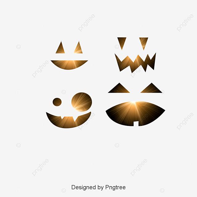 Vector Halloween Pumpkin Smiley Face, Face Clipart, Creative