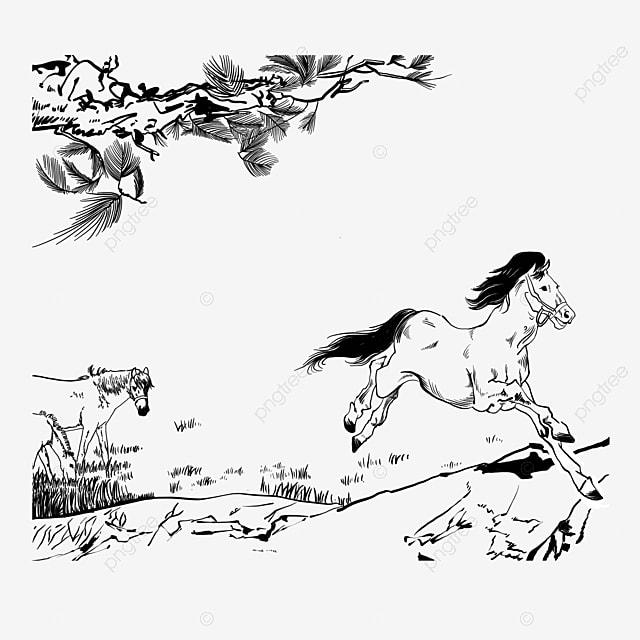 Clipart Cheval Gratuit cheval marron dessin animal image png pour le téléchargement libre