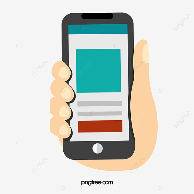 Vector Hand Phone, Hand Phone, Ui Design, Vector PNG And
