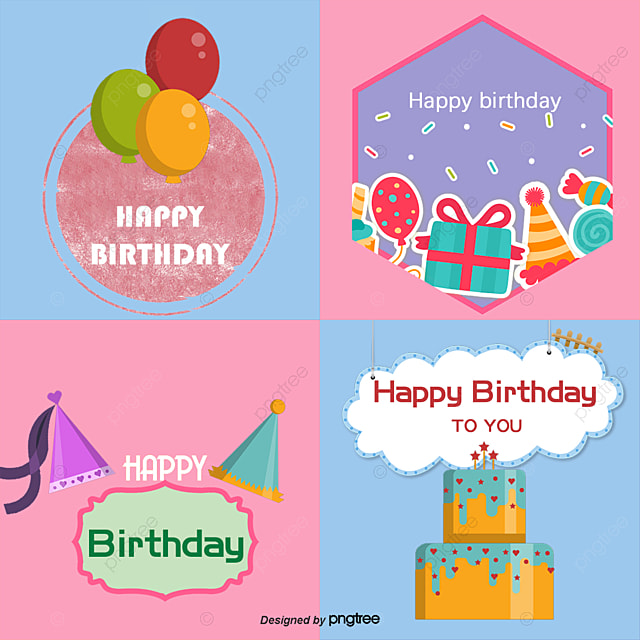 Vector Happy Birthday Birthday Vector Birthday Clipart Gift Png