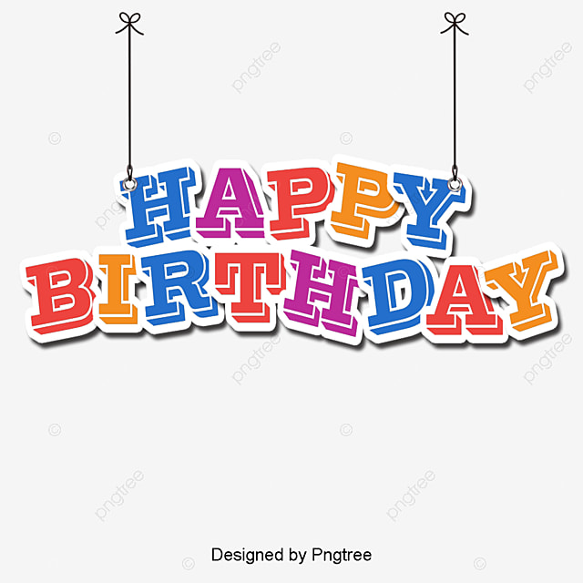 vector happy birthday wordart happy birthday wordart wordart rh pngtree com birthday vector clip art birthday vector art