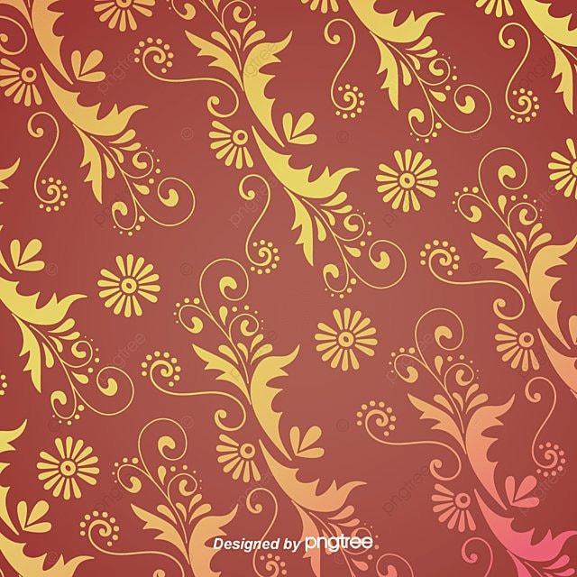Golden Flower Vector Petal Line Drawing Gradient Metal Flowers PNG And