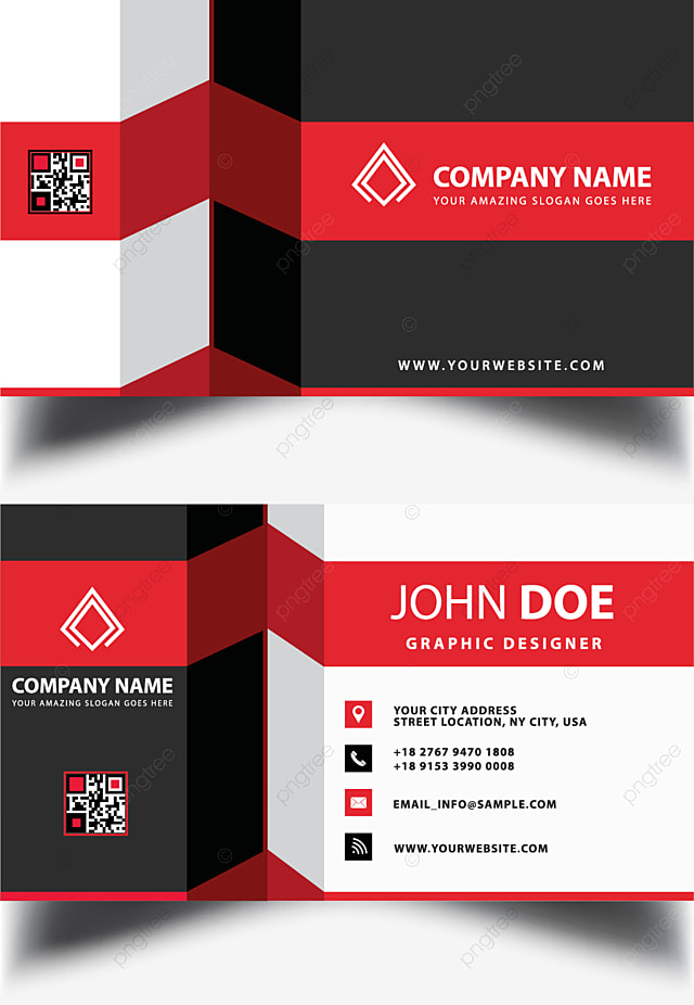 Business Card Design Cards PNG And Vector
