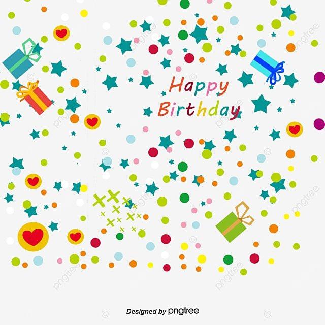 Feliz Cumpleaños Color De Fondo Elementos Decorativos, Decoracion ...