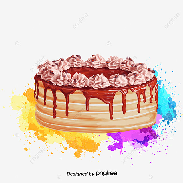 Vector Delicioso Pastel Acuarela Diseño Cocina Creativa, Dibujo ...