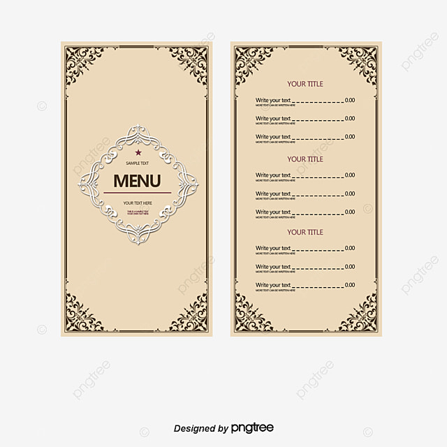 simple restaurant menu design vector simple restaurant menu png
