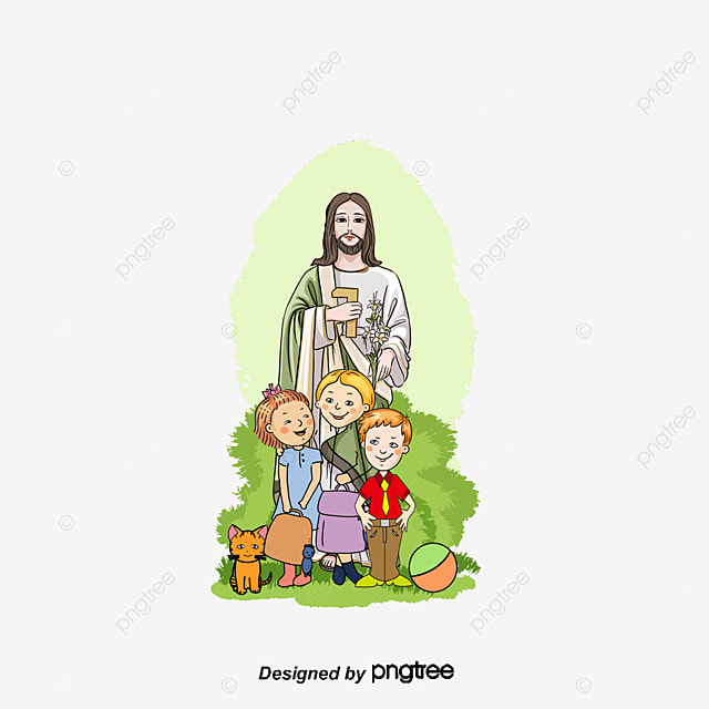 Vector Children And Jesus_681756 on Color By Number Love