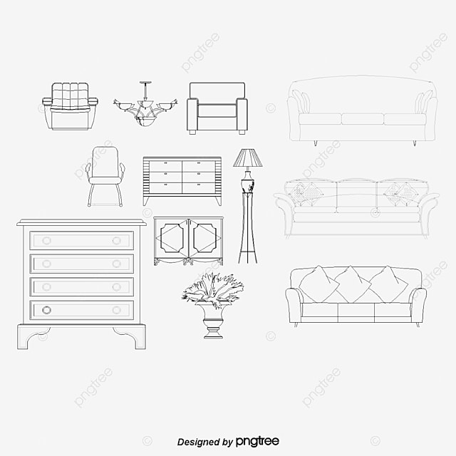 Vector Furniture Furniture Cartoon Furniture Png And Vector For