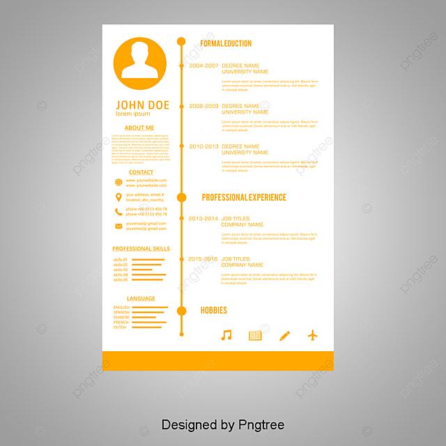 Vector Personales Curriculum Vitae, AI, Blanco, Diseñador Biografia ...