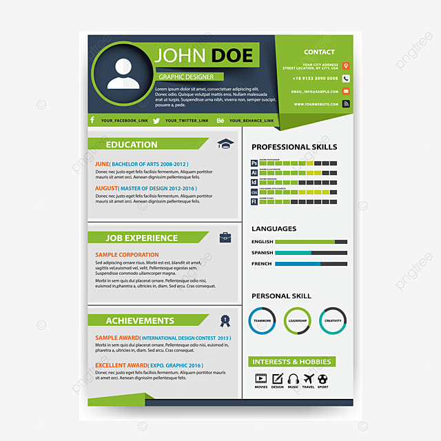 Vector Personal Resume Ai White Creative Biography Png And Vector