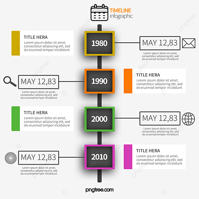colorful timeline chart free download timeline vector chart vector