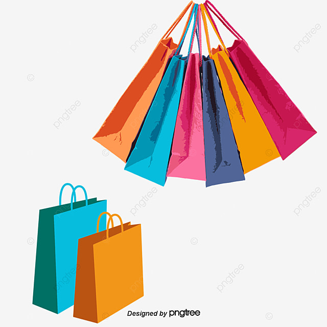 Shopping Bag Vector Colored Shopping Bags Bag Png And Vector For