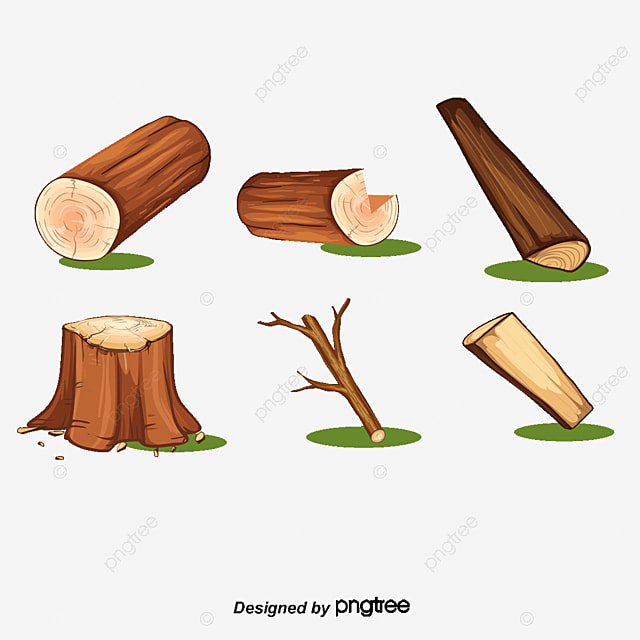 Vector Was Cut Off Trees Logging Cutting Down Wood Png And