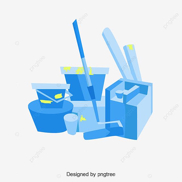 Brosse De Vecteur D Outils De Peinture Et Le Pot De Peinture Outil