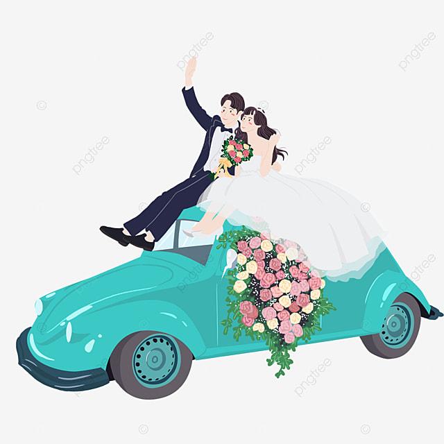 Dessin de mariage de voiture dessin mariage automobile fichier png et psd pour le t l chargement - Dessin voiture mariage ...