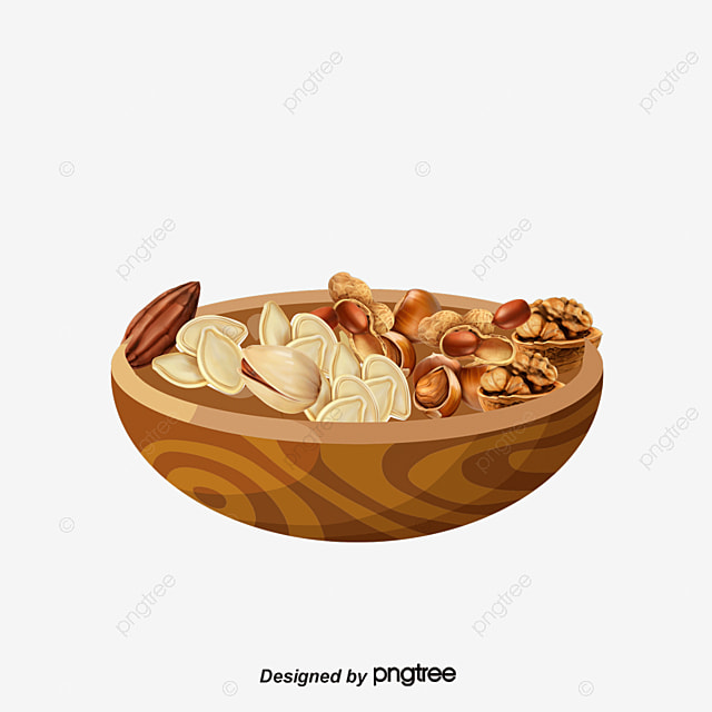vector dried fruit and nuts dried fruits nut cartoon