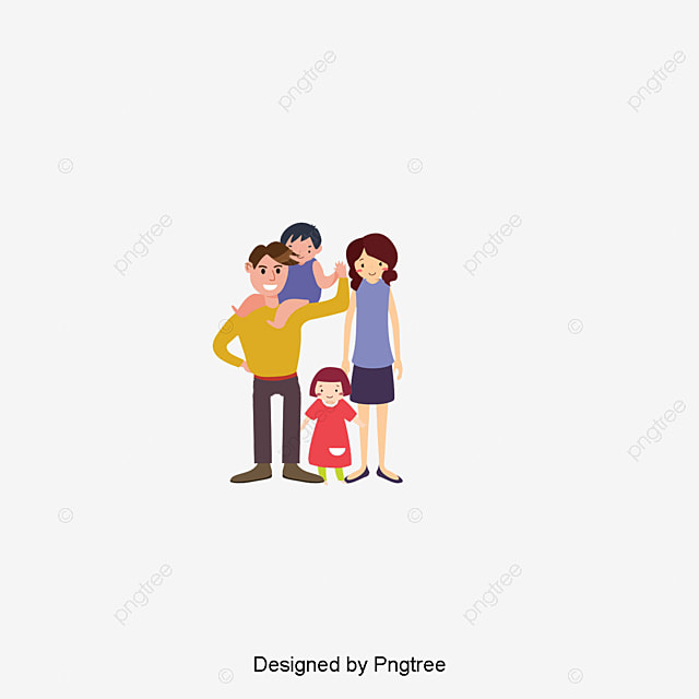 Happy Family, Family Clipart, 3d, Character PNG ...