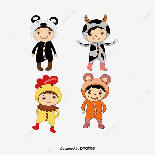 Carga Animal Vector Niños, Animal En, Personajes De Dibujos Animados ...