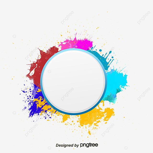 Vector Round Frame Ink, Circular Border, Ink Border, Ink Marks PNG ...