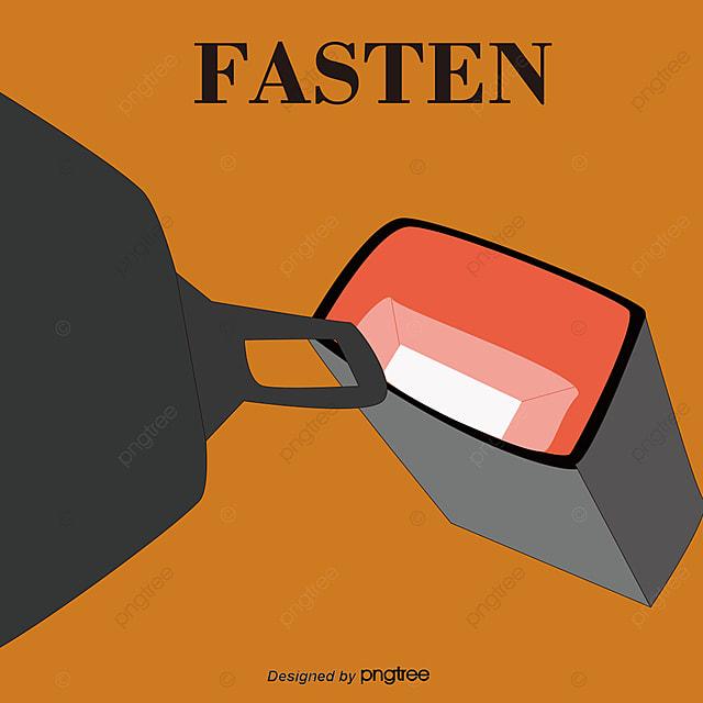 Vector Illustration Simple Belt Clip, Seat Belt, Safety ...