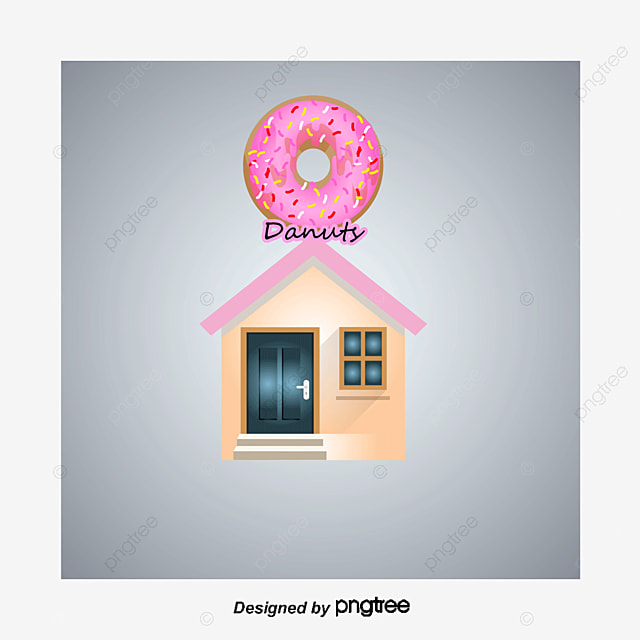 Cartoon Doughnut Factory: Vector Donut Shop, Donut Shop, Vector, Storefront PNG And