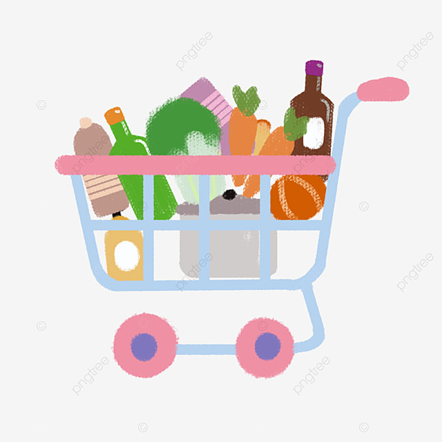 سوبر ماركت سلة الغذاء الخدمات المنزلية الغذاء سلة التسوق Png وملف Psd للتحميل مجانا