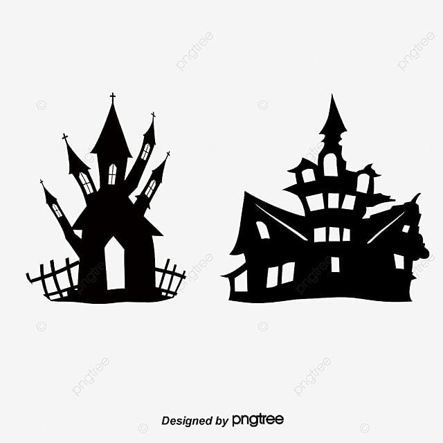 O Material De Vetor De Silhueta De Halloween Silhueta De Halloween ...