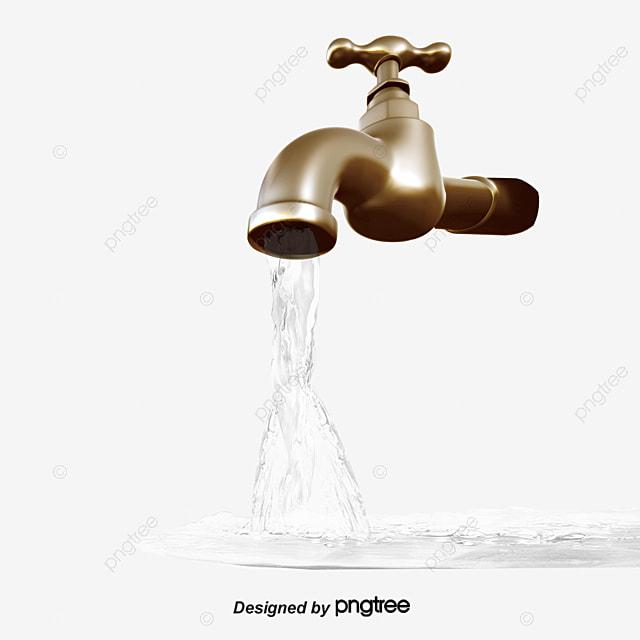 Water Faucet, Water, Transparent Water, Faucet PNG Image