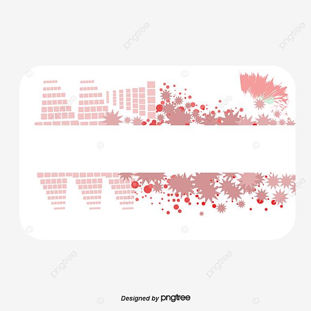 Famosos Material De Vector De Decoração Cor De Rosa Cartão De Visita, Cor  LN13