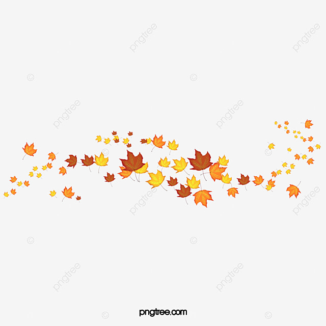Golden Autumn Leaves Border Frame Fall Leaves Png Image