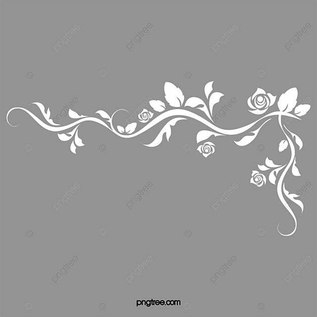 Rose Corner Decoration Chalk Decorative Elements Promotions PNG Image And Clipart