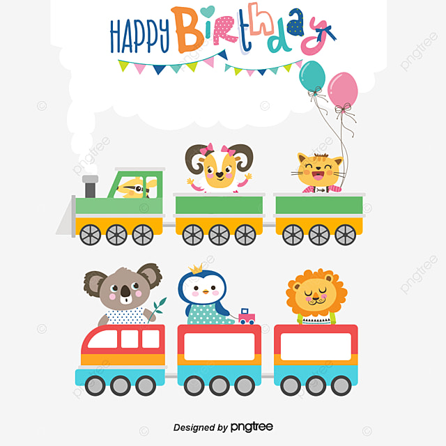 vector birthday card cartoon animals birthday cards cartoon animals animal png and vector - Images Cartoon Animals