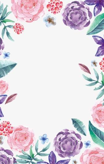 watercolor flowers border  simple flowers  pink flowers  watercolor flowers png image for free