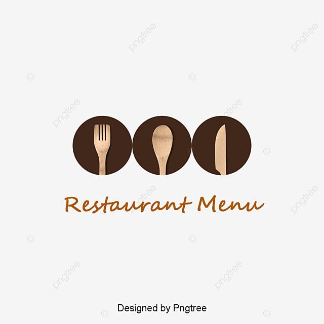 Innovative restaurant logo decoration vector