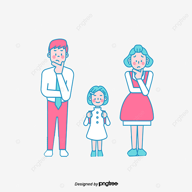 happy family family clipart creative cartoon png image and rh pngtree com happy family picture clipart happy family clipart free