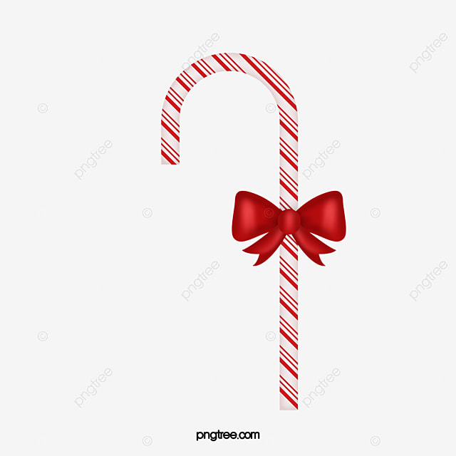 Candy Cane Creative Christmas Bow PNG Image And Clipart