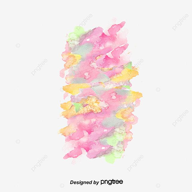 ink element gorgeous watercolor vector paint background