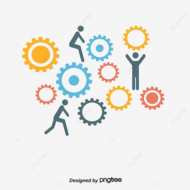 trabajando juntos ilustraci u00f3n vectorial puestos de trabajo