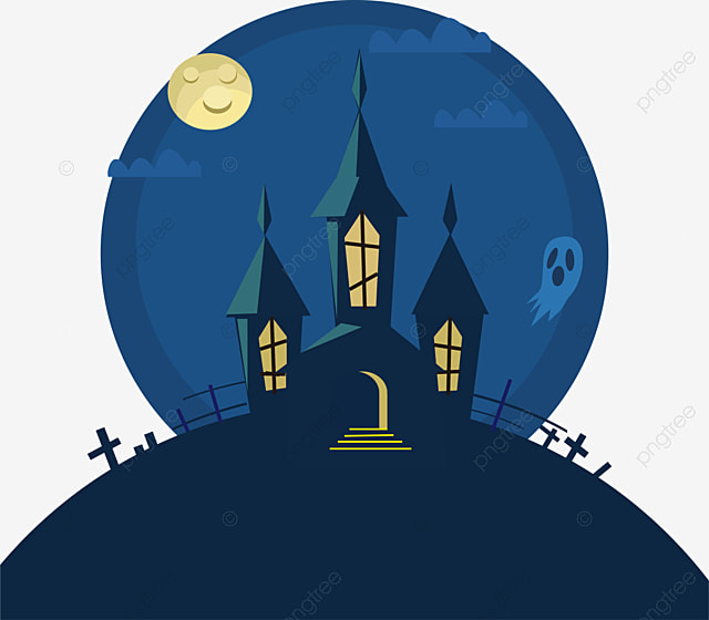 Ghosts And Haunted Houses Halloween Ghost Vector PNG