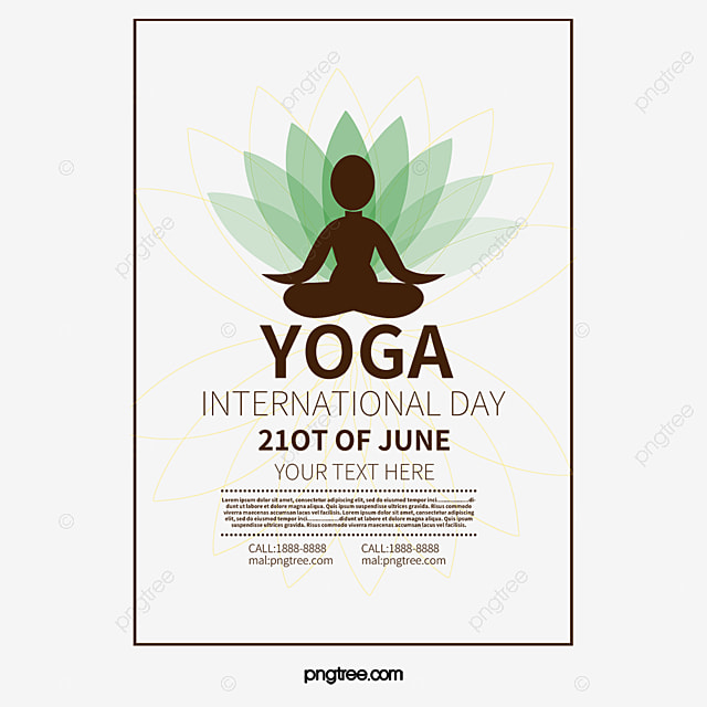 Yoga Poster Vector Elements Woman Lotus PNG And