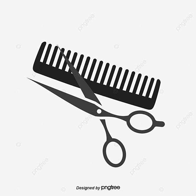 black hair salon scissors and comb comb clipart comb