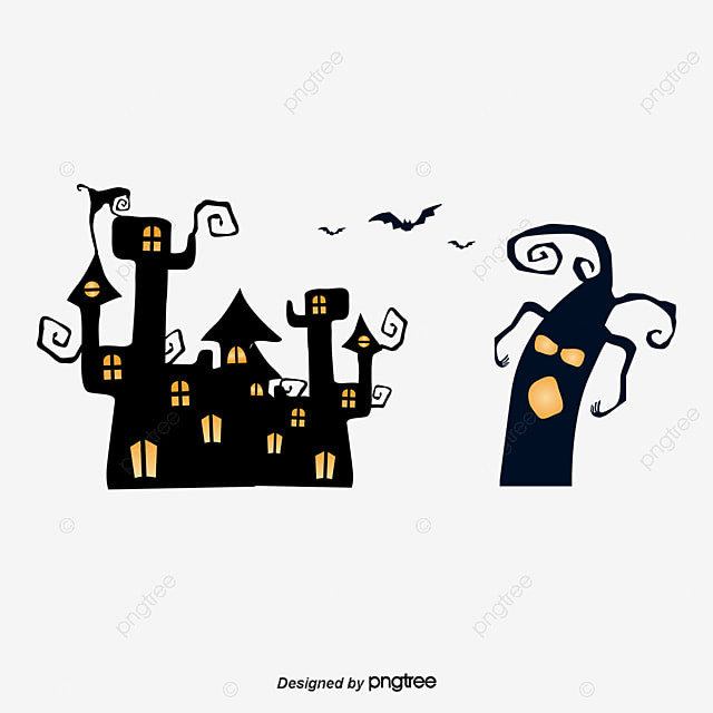 vector haunted house bat haunted house vector bat png and vector rh pngtree com haunted house victor ny haunted house vector free