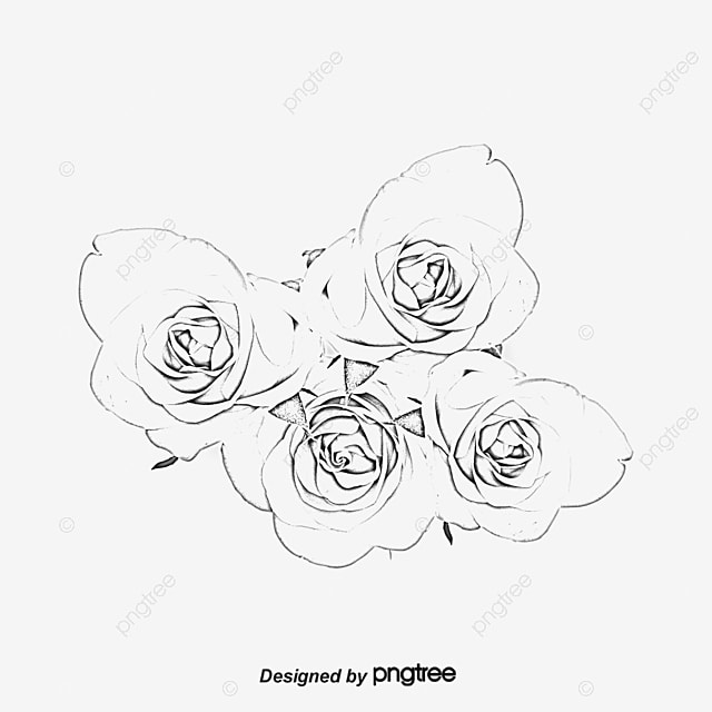 tattoo flowers hand painted png and psd file for free