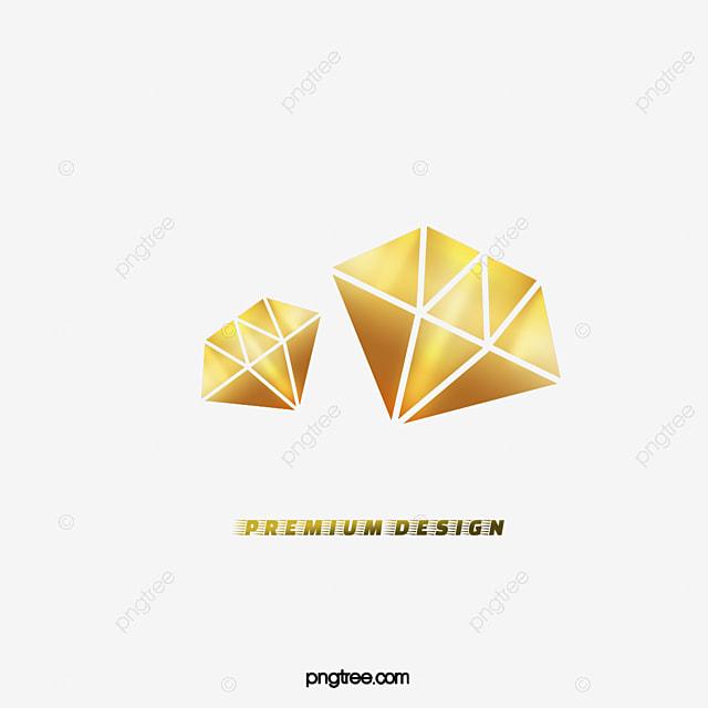 vecteur de logo or hd graphique vectoriel diamant png et